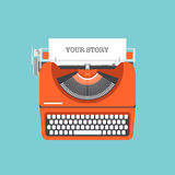 Share your story flat illustration Stock Images