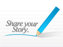 Share your story message illustration design Stock Photo