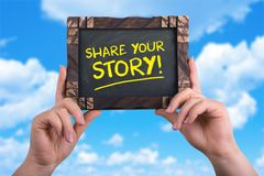 Share your story royalty free stock images