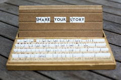 Share your story Royalty Free Stock Photos