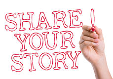 Share Your Story written on wipe board Stock Images