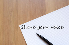 Share your voice concept Stock Photography
