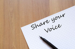 Share your voice concept Royalty Free Stock Image