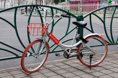 Shared bicycle,mobike in China Royalty Free Stock Image