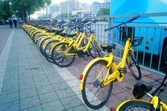 Street parking bike sharing. Stock Images