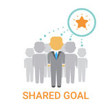 Shared Goal Businesspeople Team Cooperation Icon Business Banner Stock Images