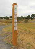 Shared Pathway sign for pedestrians and cyclists Royalty Free Stock Photos