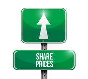 Shared prices road sign illustration design Stock Image