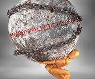 Free Shared Psychotic Disorder And Hardship In Life - Pictured By Word Shared Psychotic Disorder As A Heavy Weight On Shoulders To Royalty Free Stock Photos - 181345208