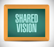 Shared vision board sign illustration design Royalty Free Stock Photo