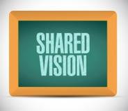 shared vision board sign illustration design Royalty Free Stock Photo
