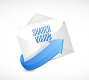 Shared vision email message illustration design Royalty Free Stock Images