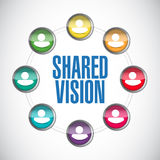 Shared vision people diversity illustration design Stock Photo
