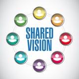 Shared vision people diversity illustration design Stock Photo
