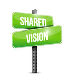 shared vision road sign illustration design Stock Images