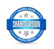 Shared vision seal illustration design Royalty Free Stock Photos