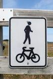 Shared walkway sign Stock Image