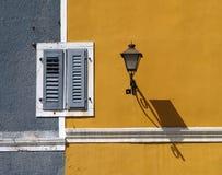 Shared window. Window shared between two houses, Vrsar, Croatia royalty free stock photos