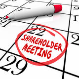 Shareholder Meeting Calendar Day Date Schedule Circled Reminder Stock Photo