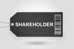 Shareholder price tag Royalty Free Stock Photography