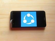 SHAREit app στοκ εικόνες με δικαίωμα ελεύθερης χρήσης