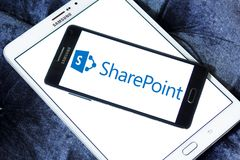 SharePoint商标 免版税图库摄影