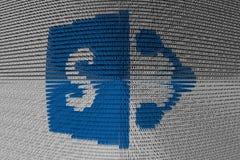 SharePoint se presenta bajo la forma de código binario Imagen de archivo libre de regalías