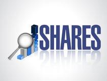 Shares business graph illustration design Stock Images