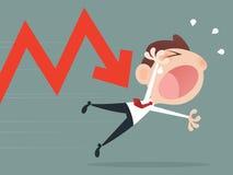 Shares fall Stock Photos