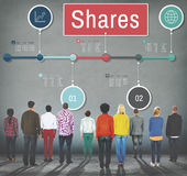 Shares Global Business Information Data Concept Royalty Free Stock Images