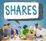 Shares Information Social Media Networking Concept Royalty Free Stock Photography