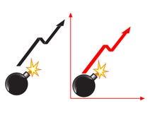 Shares  jump Stock Image