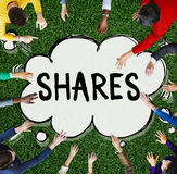 Shares Shareholder Asset Contribution Proportion Concept.  royalty free stock photo