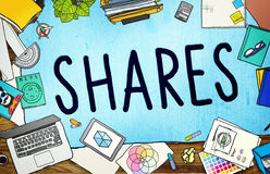 Shares Sharing Help Give Dividend Concept Royalty Free Stock Photos