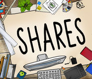 Shares Sharing Help Give Dividend Concept Stock Images