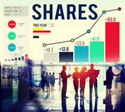 Shares Sharing Shareholder Corporate Concept Royalty Free Stock Images