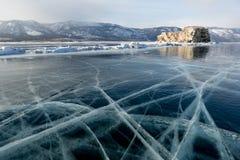 Sharga-Dagan Island on Lake Baikal, Russia Stock Image