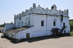 Shargorod Synagogue - Ukraine. Shargorod Synagogue, built in 1589. During the Soviet era it was converted to a wine factory, whereas now it has been returned to Royalty Free Stock Photos