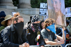 Sharia protest. Counter protesters at a rally against Sharia in New York City Royalty Free Stock Image