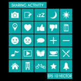 Sharing Activity Icon Set Stock Image