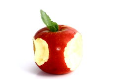 Sharing an apple Royalty Free Stock Photography