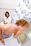 Sharing a bathroom Stock Photos