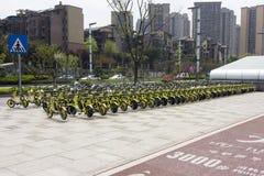 Sharing bikes royalty free stock image