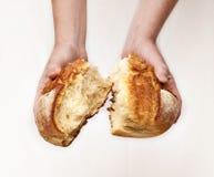 Sharing bread Stock Photos