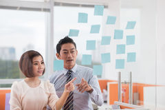 Sharing business ideas Stock Photos