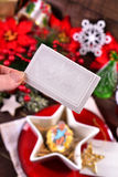 Sharing with christmas eve wafer Stock Photography