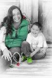 Sharing Christmas stock image