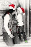 Sharing Christmas Stock Photo