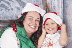 Sharing Christmas Royalty Free Stock Photos