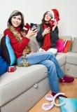 Sharing Christmas Presents Royalty Free Stock Photo